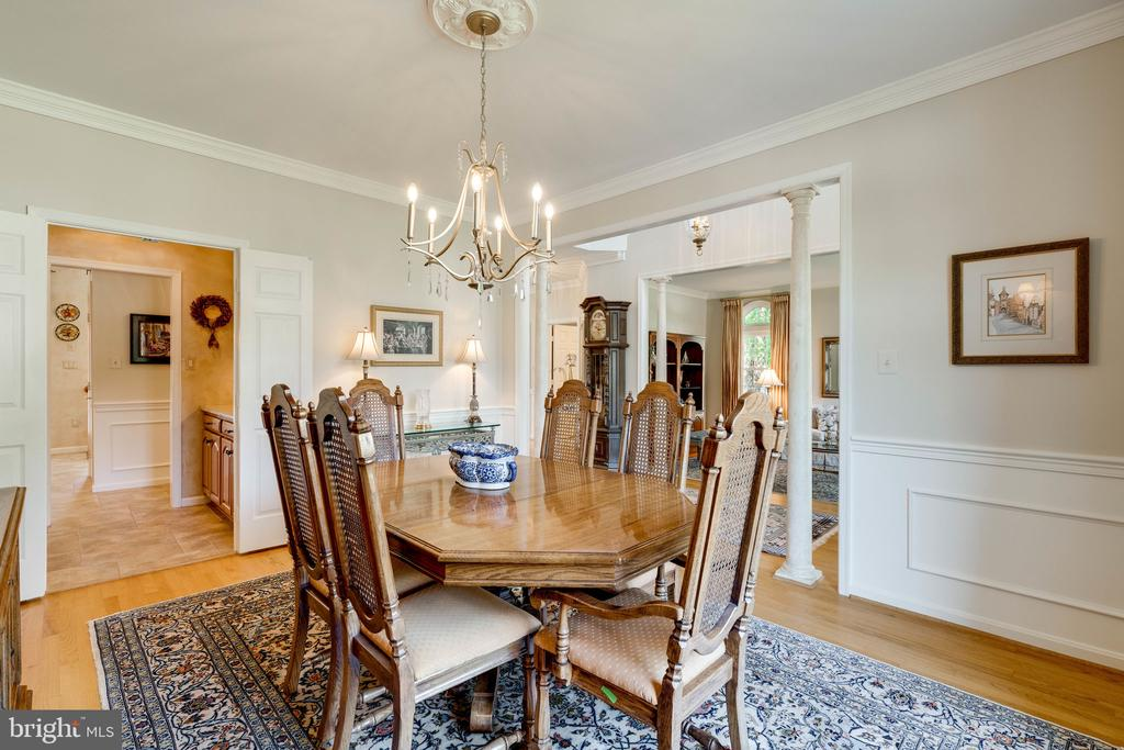 Dining Room with Wainscoting - 8523 SILVERVIEW DR, LORTON