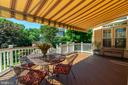Deck with Awning/ Perfect for Entertainment - 8523 SILVERVIEW DR, LORTON