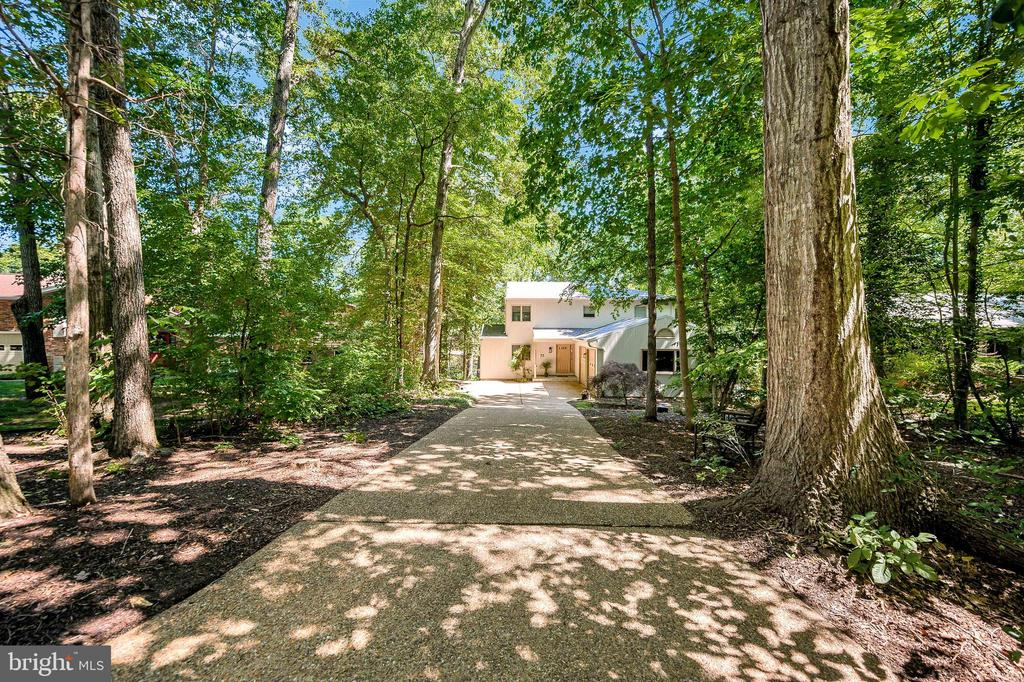 Aggregate drive with turn around-Wooded Retreat - 124 BIRCHSIDE CIR, LOCUST GROVE