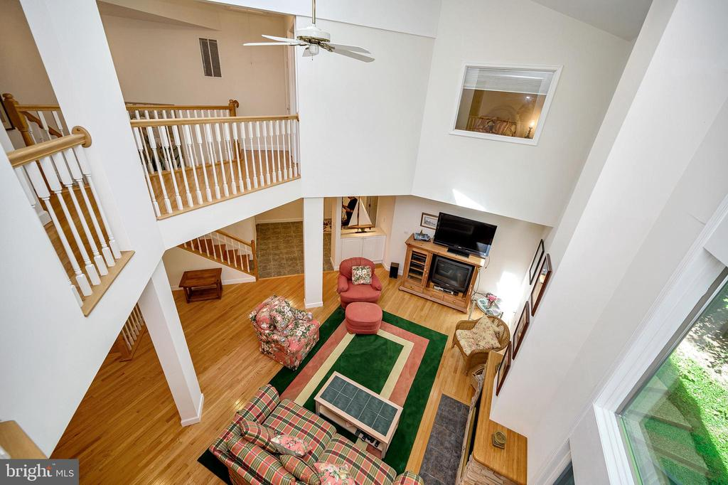 Loft view of Great Rm & Guest/2nd Bedroom hall - 124 BIRCHSIDE CIR, LOCUST GROVE