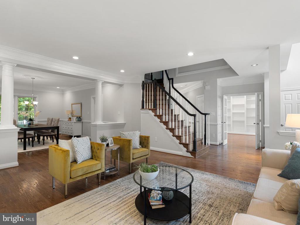 Living Room Open to Dining Room - 13716 SAFE HARBOR CT, ROCKVILLE