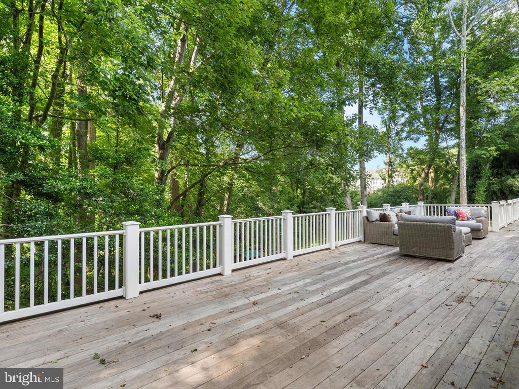 Rear Deck Overlooking Parkland - 13716 SAFE HARBOR CT, ROCKVILLE