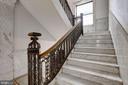 Marble staircase w/wrought iron balustrade - 2153 CALIFORNIA ST NW #306, WASHINGTON
