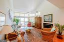 Living Room with slider to walkout deck. - 7024 CHANNEL VILLAGE CT #201, ANNAPOLIS