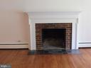 Wood burning fireplace and mantle - 5825 BROOKVIEW DR, ALEXANDRIA
