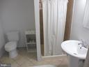 Full bath in basement - 5825 BROOKVIEW DR, ALEXANDRIA