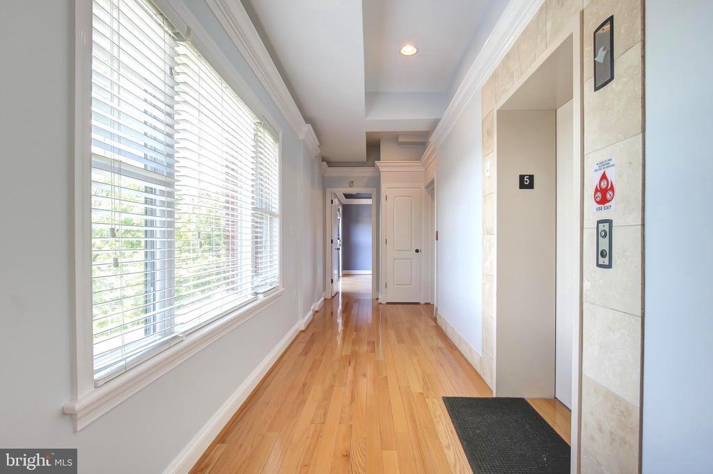 Elevator opens to Penthouse Foyer - 5511 COLORADO AVE NW #501, WASHINGTON