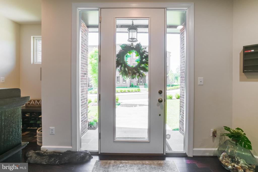 Beautiful inviting front door - 23109 COTTONWILLOW SQ, BRAMBLETON