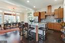 2nd Upper Level ~ Kitchen and Dining area - 23109 COTTONWILLOW SQ, BRAMBLETON