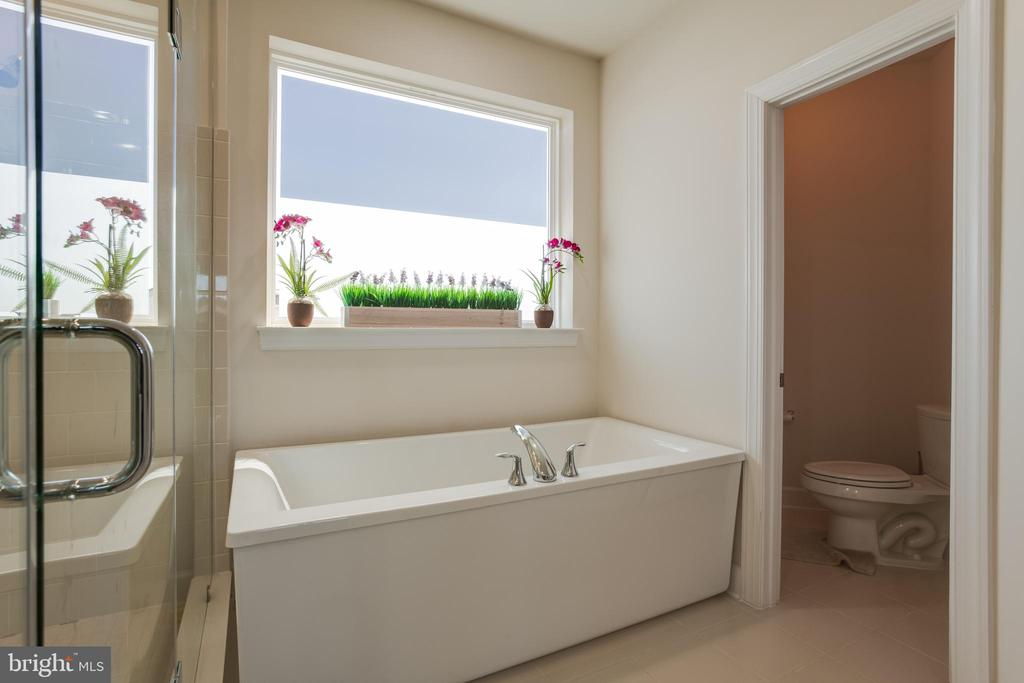 Upper 3rd Level ~ Master Bath w/ Soaking Tub - 23109 COTTONWILLOW SQ, BRAMBLETON