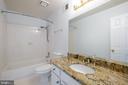 Hall bathroom, granite counter - 206 PRIMROSE CT SW, LEESBURG