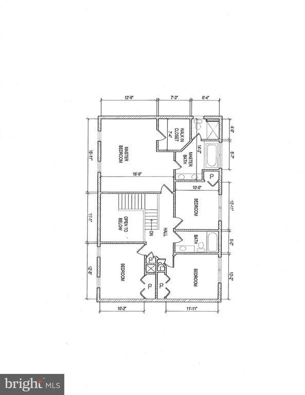 Upper Level Floor Plan - 206 PRIMROSE CT SW, LEESBURG