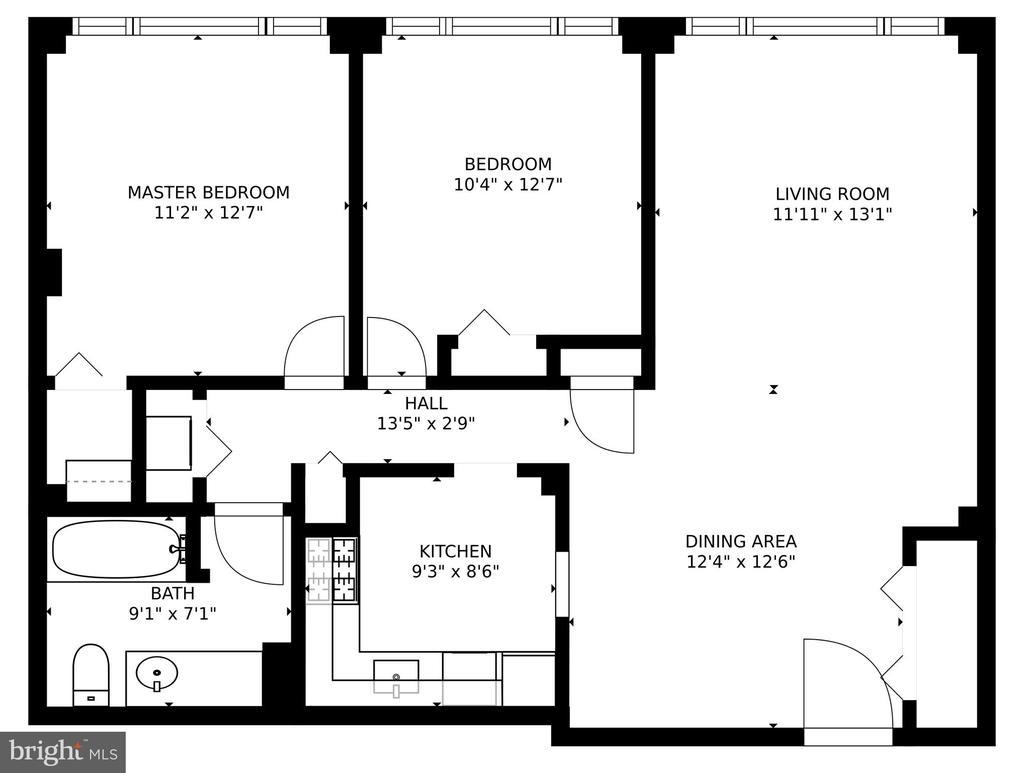 2-bed, 1-bath 940 sq. ft - 10570 MAIN ST #325, FAIRFAX