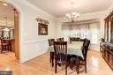 Large Dining Room w/Bay Window - 16215 CYPRESS CT, DUMFRIES