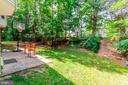 Private backyard area - 16215 CYPRESS CT, DUMFRIES