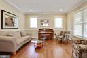 recessed lighting, crown molding, wainscoting - 3401 N KENSINGTON ST, ARLINGTON