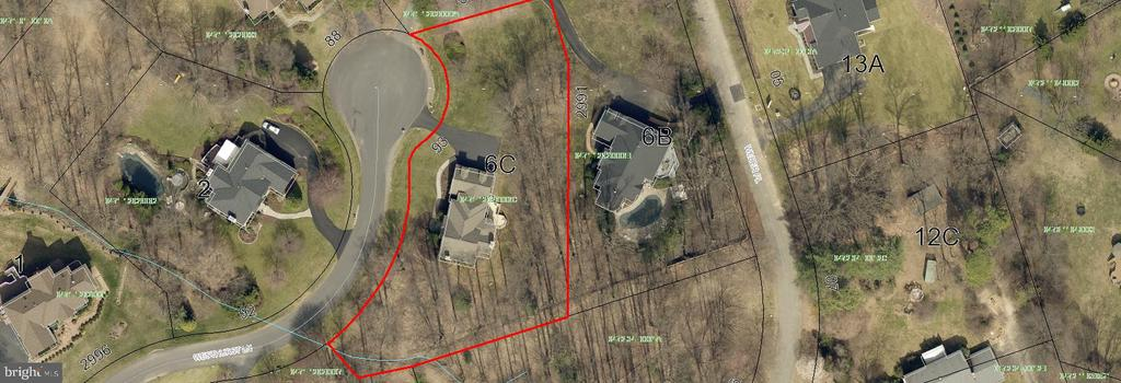Tax map - aerial view - 2993 WESTHURST LN, OAKTON