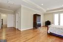 double doors to hall with walk-in closet and bath - 3401 N KENSINGTON ST, ARLINGTON