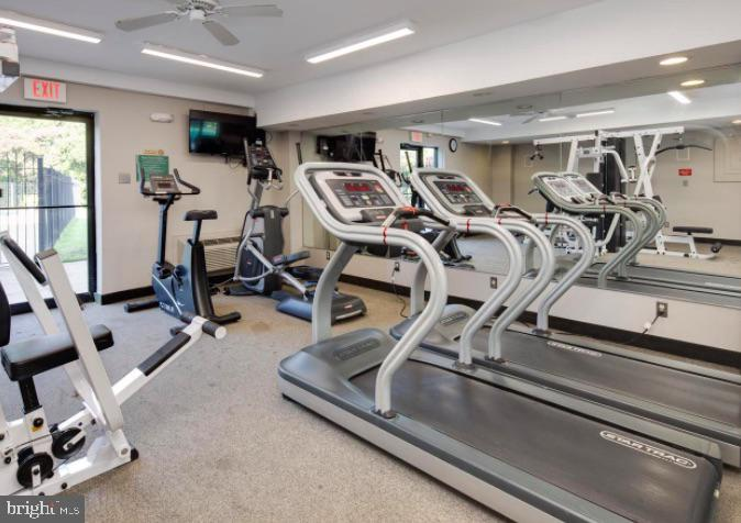 There is even a gym in the building! - 10570 MAIN ST #325, FAIRFAX