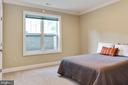 sixth bedroom on the lower level with bath entry - 3401 N KENSINGTON ST, ARLINGTON