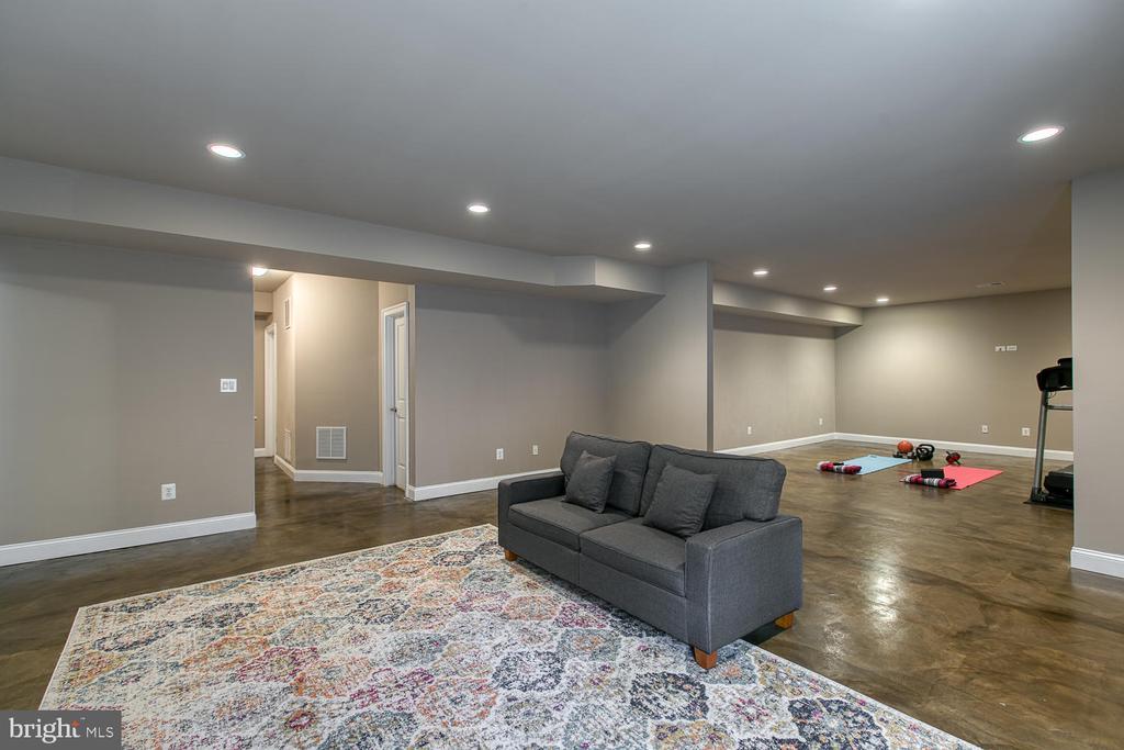 Sleek Concrete floors throughout lower level - 3519 LAKE ST, FALLS CHURCH