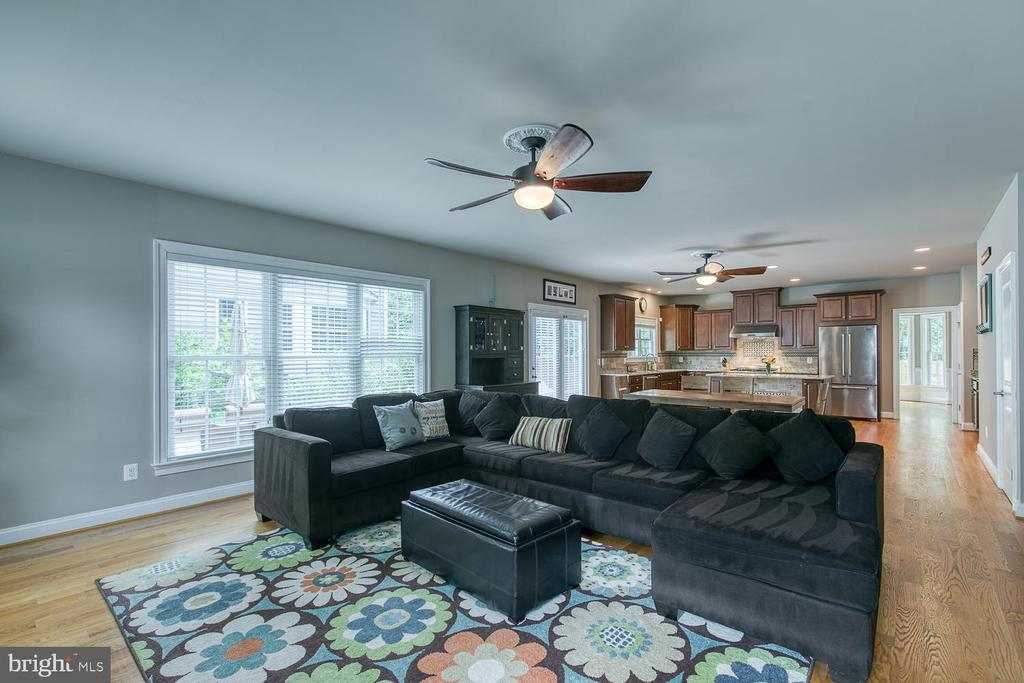 Huge Family Room with lots of light! - 3519 LAKE ST, FALLS CHURCH