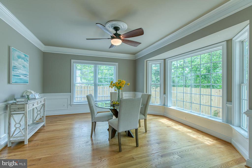 Expansive Dining Room with tons of windows - 3519 LAKE ST, FALLS CHURCH