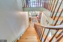 Stairs from Entrance foyer to upper hall - 300 W GERMAN ST, SHEPHERDSTOWN