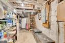 Basement storage and stairs - 300 W GERMAN ST, SHEPHERDSTOWN