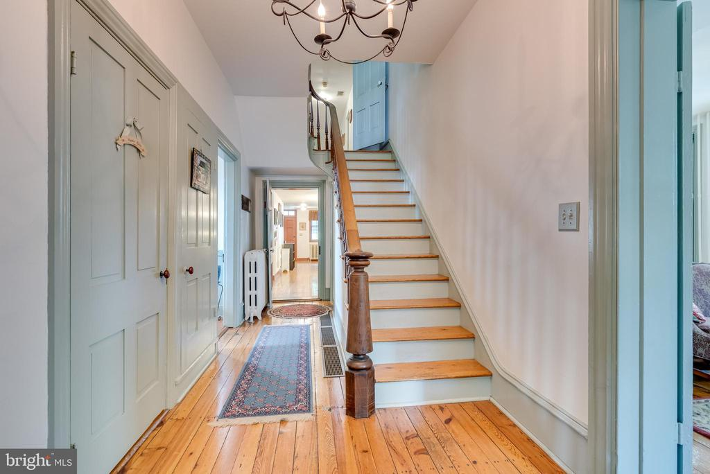 view from front foyer to main level rooms/ stairs - 300 W GERMAN ST, SHEPHERDSTOWN