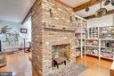 Beautiful in- kitchen brick fireplace - 300 W GERMAN ST, SHEPHERDSTOWN