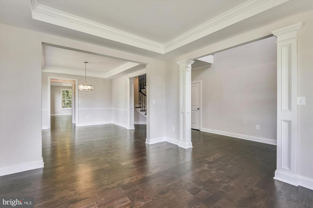 Open floor plan, high ceilings, wide hallways - 2905 RANDOM RD, FALLS CHURCH