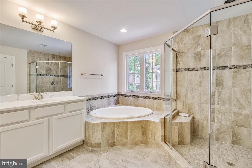 Master bath with soaking tub, double vanities - 2905 RANDOM RD, FALLS CHURCH