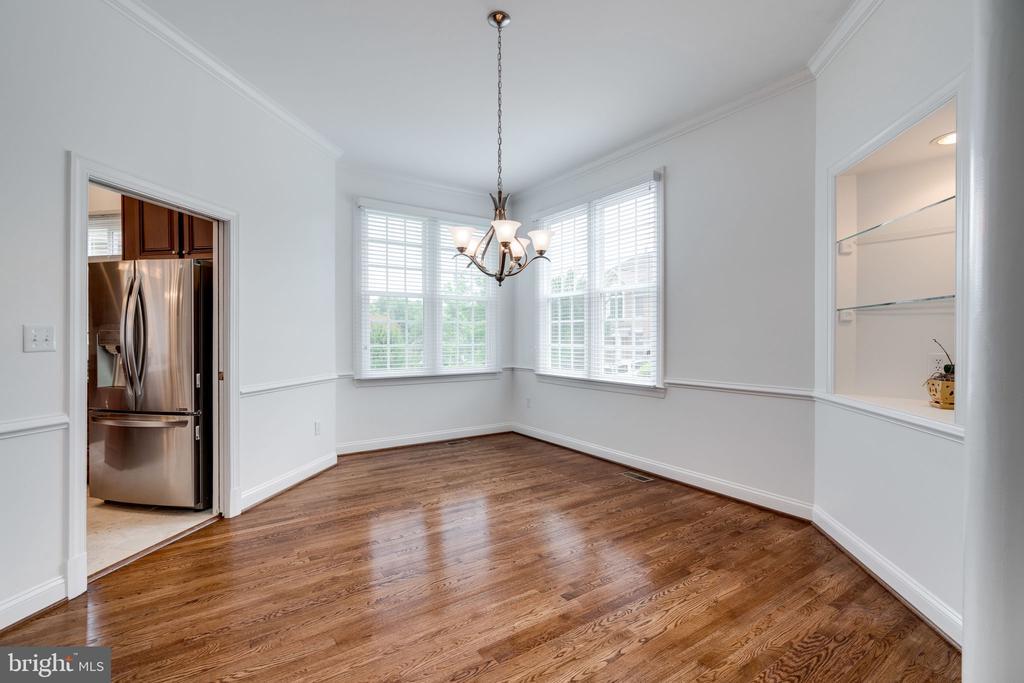 Dining Area with Hardwood Floors - 9413 ENGLEFIELD CT, FAIRFAX STATION