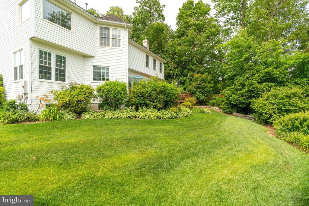 Backyard with Luscious Green Lawn - 9413 ENGLEFIELD CT, FAIRFAX STATION