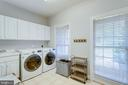 Main level laundry room also has a storage closet. - 2796 MARSHALL LAKE DR, OAKTON