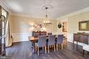 Formal dining room has chair rail w/box trim below - 2796 MARSHALL LAKE DR, OAKTON