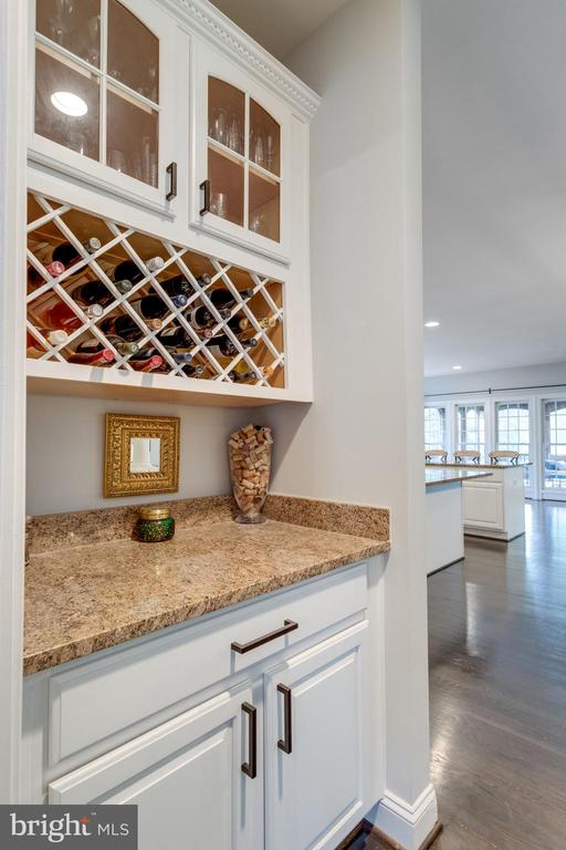 Butler's pantry between dining room & kitchen. - 2796 MARSHALL LAKE DR, OAKTON