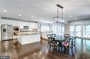 Kitchen breakfast room w/updated light fixture. - 2796 MARSHALL LAKE DR, OAKTON