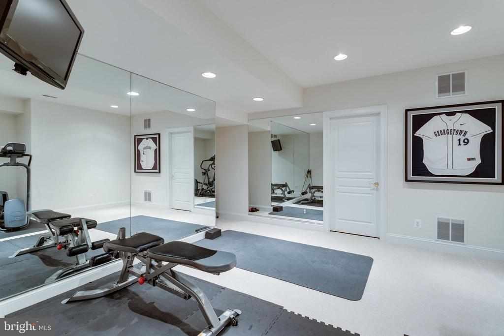 Exercise room in lower level. - 2796 MARSHALL LAKE DR, OAKTON