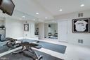 Exercise room in lower level. - 2796 MARSHALL LAKE DR, OAKTON