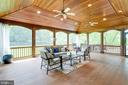 Screened porch w/IPE Brazilian hardwood floor. - 2796 MARSHALL LAKE DR, OAKTON