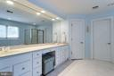 Wide double sink vanity with plenty of storage. - 2796 MARSHALL LAKE DR, OAKTON
