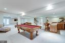 Lower level rec room. - 2796 MARSHALL LAKE DR, OAKTON