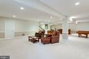 Lower level family room. - 2796 MARSHALL LAKE DR, OAKTON