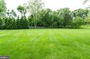 Rear yard fringed w trees. - 2796 MARSHALL LAKE DR, OAKTON
