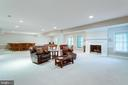 Lower level family room with gas fireplace. - 2796 MARSHALL LAKE DR, OAKTON