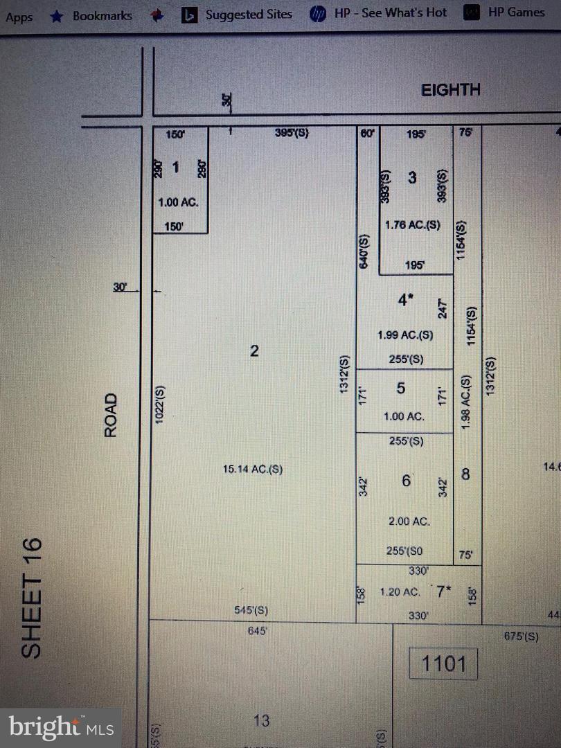 土地 為 出售 在 Buena Vista Township, 新澤西州 08330 美國
