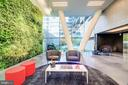 Dramatic lobby with 50' living green wall - 1111 24TH ST NW #42, WASHINGTON