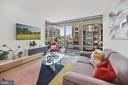 Living Room with floor-to-ceiling windows - 1111 24TH ST NW #42, WASHINGTON